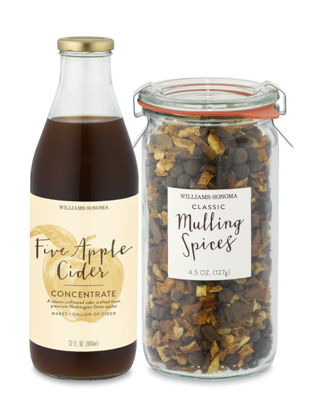 Williams Sonoma Mulling Spices & Five Apple Cider Concentrate
