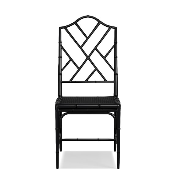 Chippendale Dining Chair Frame, Side, Black