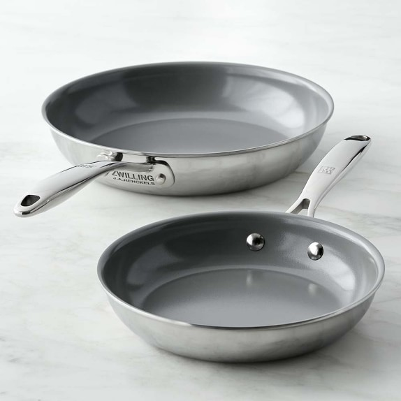 Zwilling Titanium Ceramic Nonstick Fry Pan Set, 8
