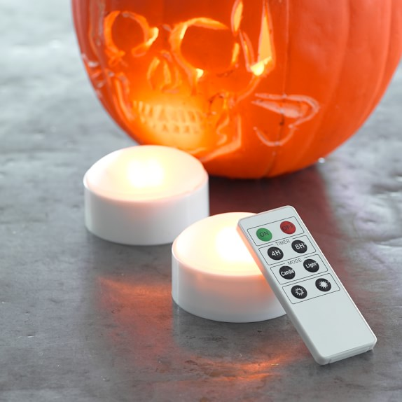 Remote Control Pumpkin Lights, Set of 2