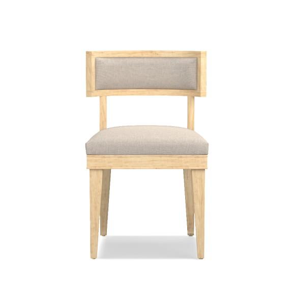 Luke Side Chair, Oak, Chunky Linen, Natural