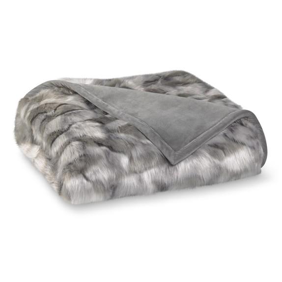 Oversized Faux Fur Throw, 60