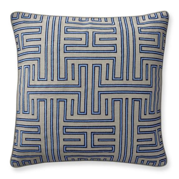 Colonial Greek Key Pillow Cover, 22