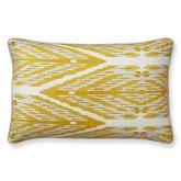 Sophia Ikat Printed Silk Pillow Cover, 14