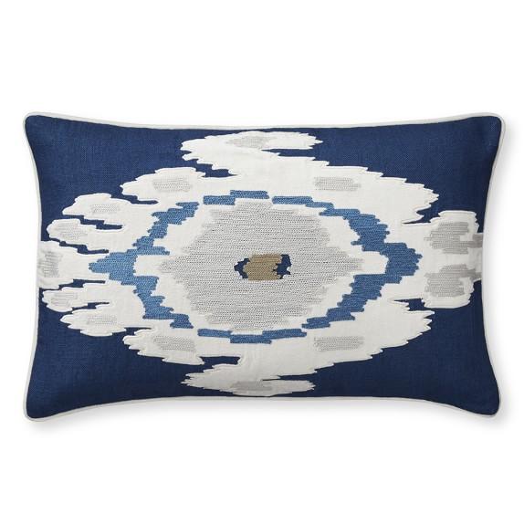 Istanbul Ikat Velvet Applique Pillow Cover, 14