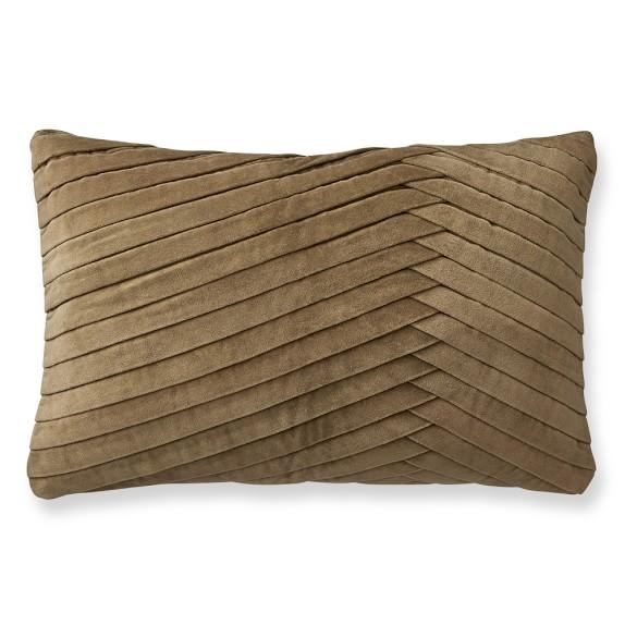 Pleated Velvet Pillow Cover, 14