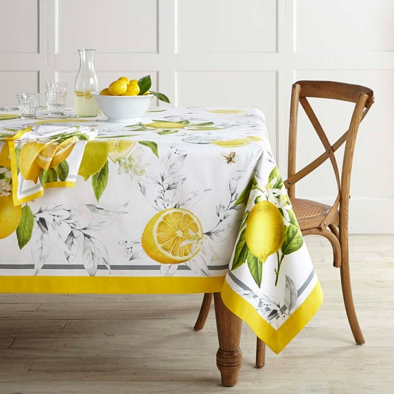 Meyer Lemon Tablecloth Williams Sonoma