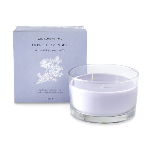 Williams Sonoma French Lavender Triple-Wick Candle