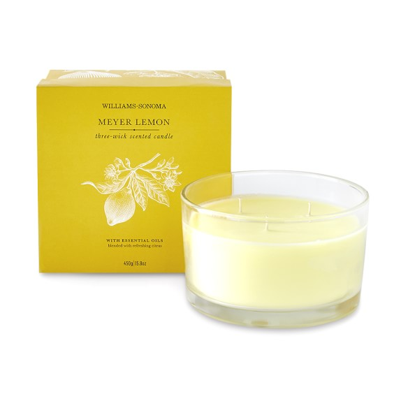 Williams Sonoma Meyer Lemon Triple-Wick Candle
