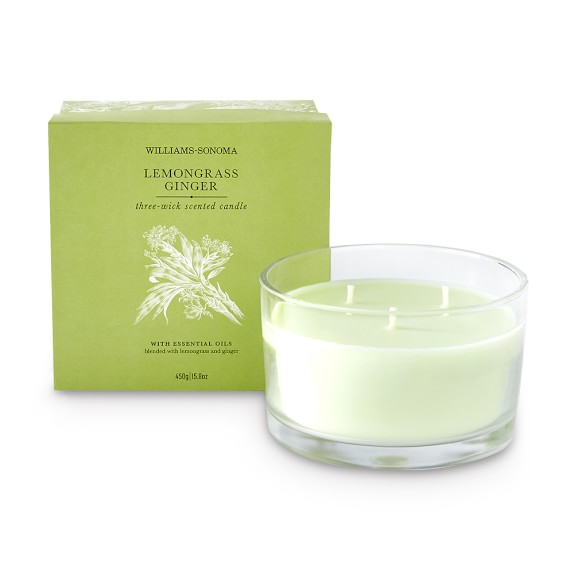 Williams Sonoma Lemongrass Ginger Triple-Wick Candle