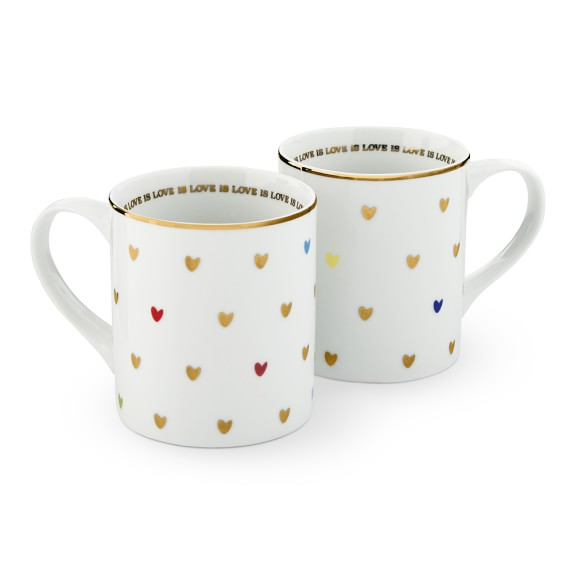 Love is Love Mug, Set of 2