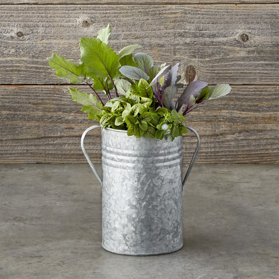 Galvanized Planter, Small