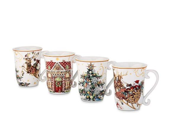 'Twas The Night Before Christmas Mugs, Multi Set of 4