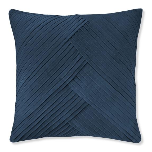 Pleated Velvet Pillow Cover, 22