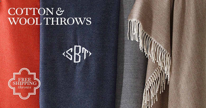 Cotton, Wool, & Other Throws