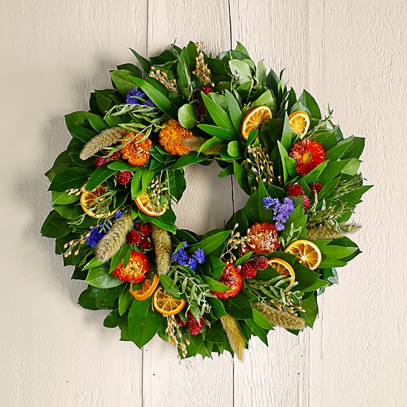 Citrus Floral Wreath, 18""