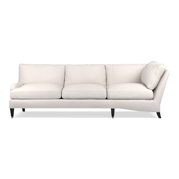 Pierce Cornering Sofa, Down Blend, Left, Performance Canvas Solid Canvas