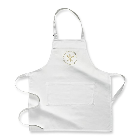 Williams Sonoma Open Kitchen Logo Chef's Apron, White