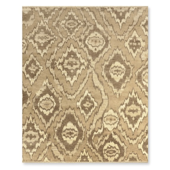 River Ikat Hand Knotted Rug Neutral Williams Sonoma