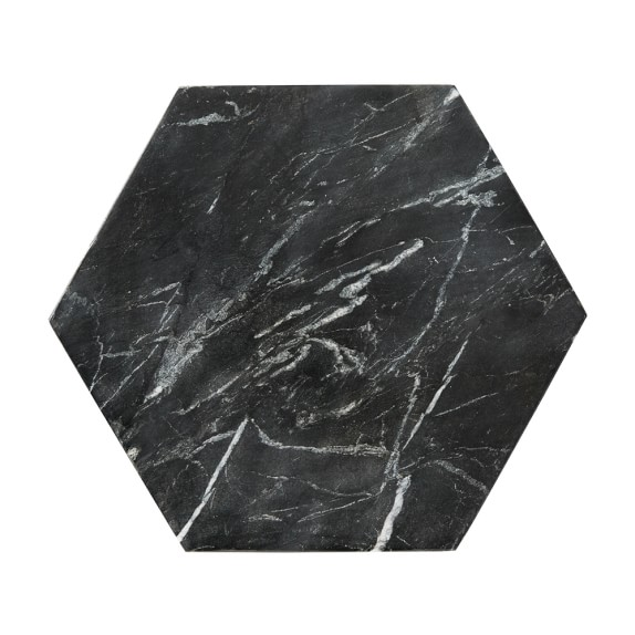 Williams Sonoma Hexagon Marble Trivet, Black