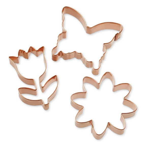 Williams Sonoma Spring Copper Cookie Cutter Set