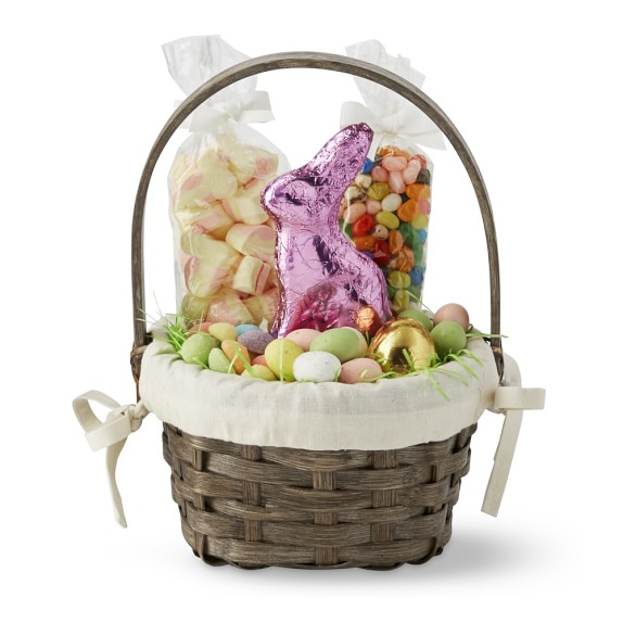 Chocolate Filled Wicker Easter Basket, Small