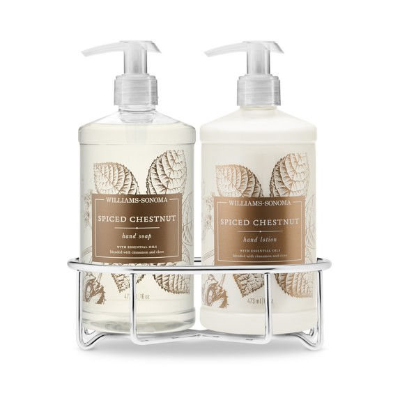 Williams Sonoma Spiced Chestnut Soap & Lotion, Classic 3-Piece Set