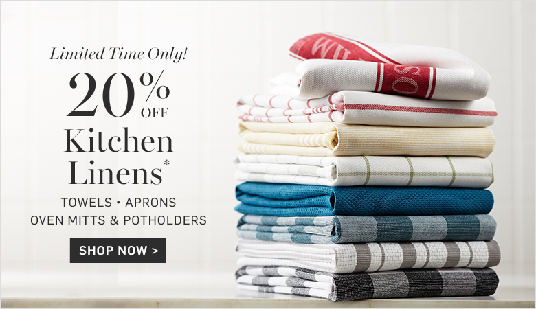 20% Off Kitchen Linens