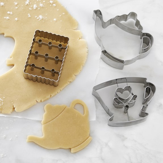 Williams Sonoma Tea Time Impression Cookie Cutters, Set of 3
