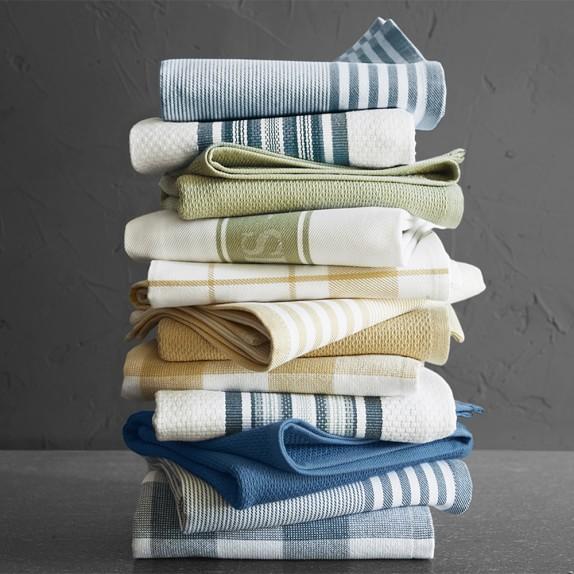 Williams Sonoma Classic Logo Towels, Set Of 4, Sage