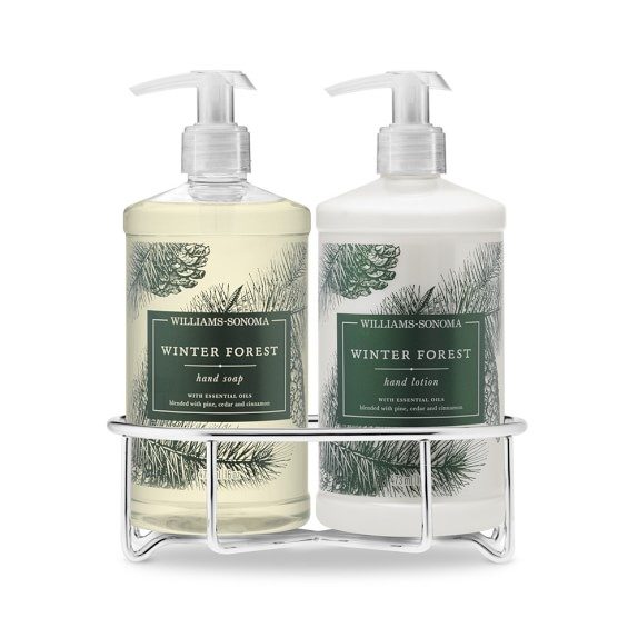 Williams Sonoma Winter Forest Soap & Lotion, Classic 3-Piece Set