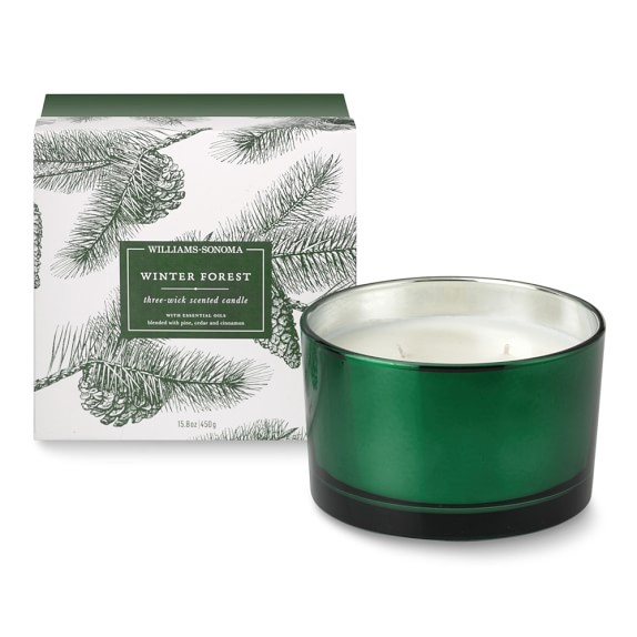 Williams Sonoma Winter Forest Triple-Wick Candle