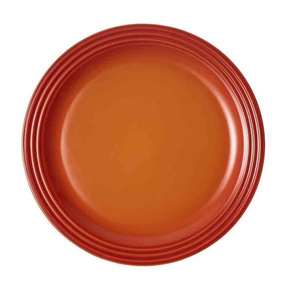 Le Creuset Dinner Plates, Set of 4, Flame, 11 1/4