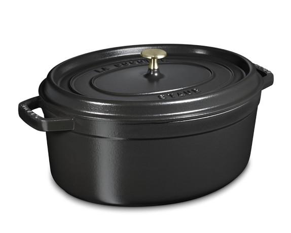Staub Cast-Iron Oval Cocotte, 7-Qt., Black