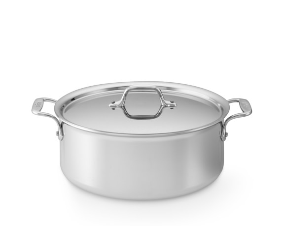 All-Clad Tri-Ply Stainless-Steel Stock Pot, 6-Qt.