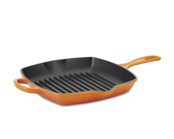 Le Creuset Signature Cast-Iron Square Grill Pan, 10
