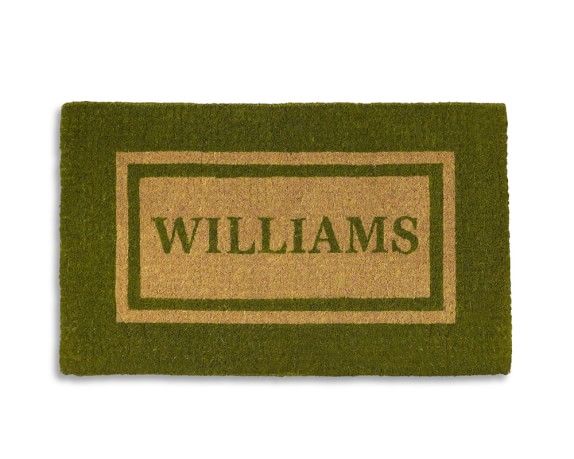Double Border Doormat, Medium, Green