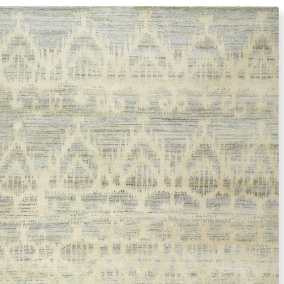 Hand Knotted Tonal Ikat Rug Swatch, 18