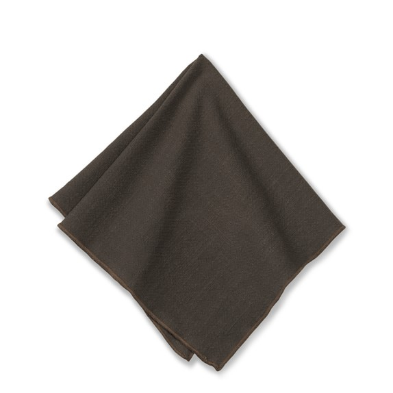 Tonal Merrow Edge Napkin, Vintage Brown
