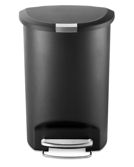 simplehuman™ Semi Round Plastic Step Trash Can 50L
