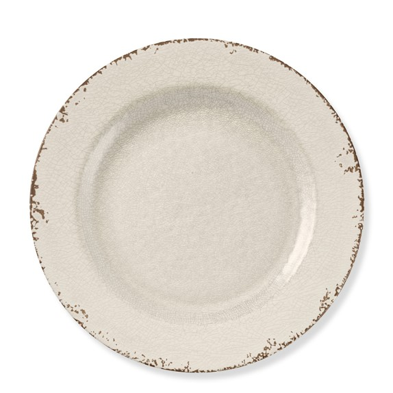 Rustic Melamine Charger, Ivory