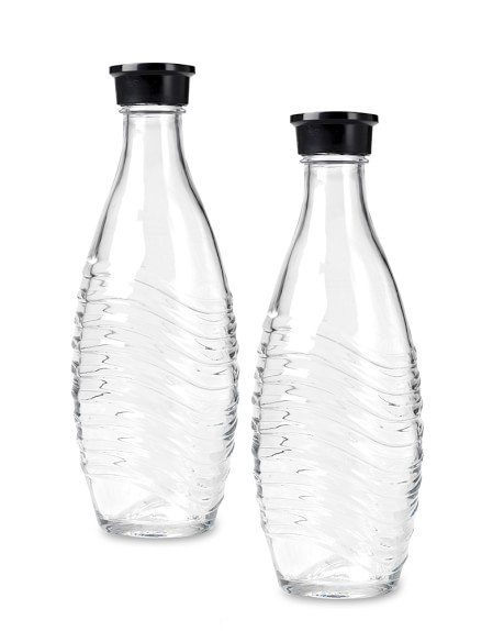 SodaStream Penguin Glass Carafes, Set of 2