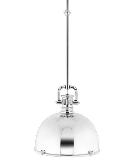 Greenwich Pendant, Polished Nickel