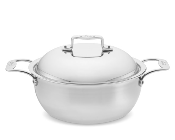 All-Clad d5 Stainless-Steel Dutch Oven, 5.5-Qt
