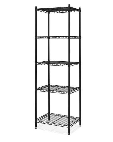 Wire 5-Shelf Tower Unit, Black