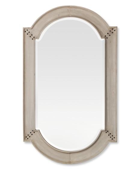 Antiqued Wooden Mirror