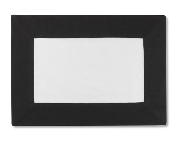 Wide Border Place Mat, Black