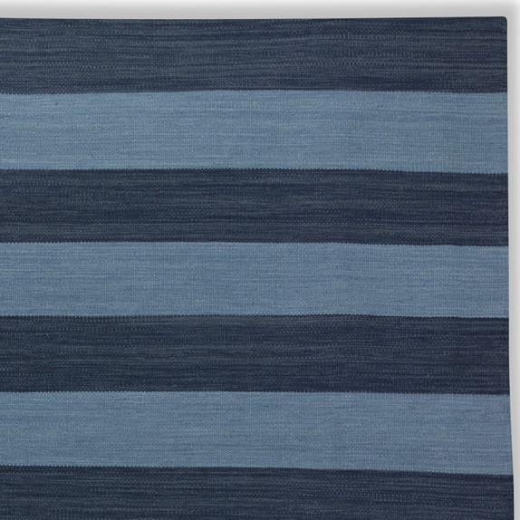 Patio Stripe Indoor/Outdoor Rug Swatch, Dress Blue & Provencal Blue