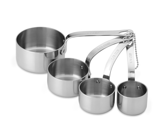 Williams Sonoma Stainless-Steel Measuring Cups, Set of 4