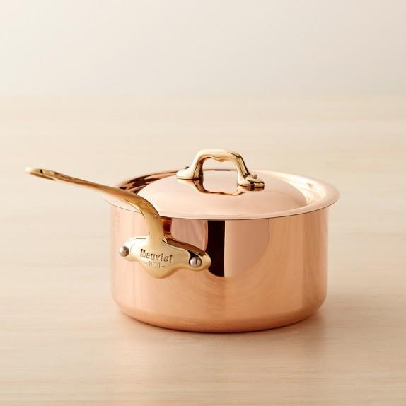 Mauviel Copper Saucepan, 2-Qt.